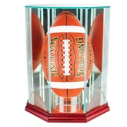 Perfect Cases Upright Octagon Football Display Case