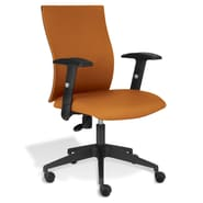 Jesper Office Kaja Office Chair with Arms; Orange Fabric