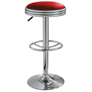 Buffalo Tools AmeriHome 23.5'' Adjustable Swivel Bar Stool with Cushion