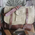 Amy Butler Parson Gray Messenger Bag; Sand