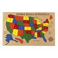 Hollow Woodworks USA Map Puzzle