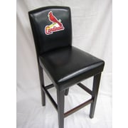 Imperial MLB 29.5'' Bar Stool with Cushion (Set of 2); St. Louis Cardinals