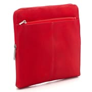 Le Donne Leather iPad/Tablet Zip Sleeve; Red