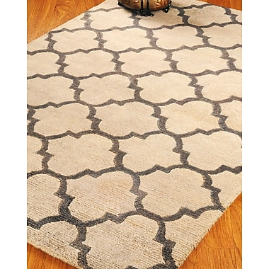 Natural Area Rugs Wool Piedmont Tan Area Rug; 6' x 9'
