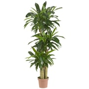 Nearly Natural Corn Stalk Dracaena Silk Floor Plant in Pot