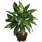 Nearly Natural Silk King Floor Plant in Decorative Vase