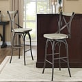 Home Loft Concept Reclaimed Deluxe Barstool with Cushion (Set of 2)
