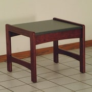 Wooden Mallet Dakota Wave End Table; Dark Red Mahogany