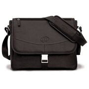 MacCase Premium Leather Small Shoulder Bag; Chocolate