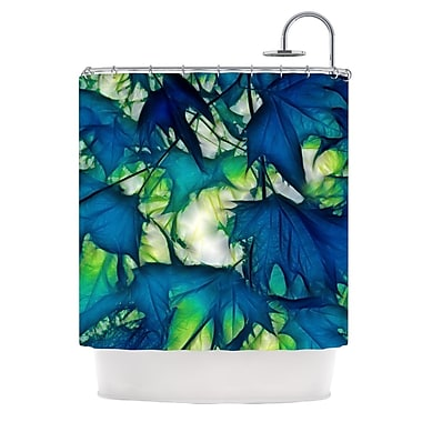 KESS InHouse Leaves Shower Curtain