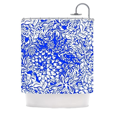 KESS InHouse Bloom Blue for You Shower Curtain