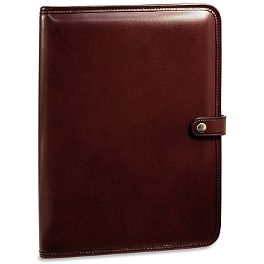 Jack Georges Milano Letter Size Writing Pad with Snap Closure; Cherry