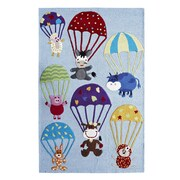 nuLOOM KinderLOOM Air Safari Blue Kids Rug; 5' x 7'