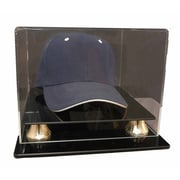 Caseworks International Cap Display with Gold Risers in Acrylic; No