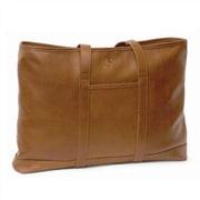 Aston Leather Front Pocket Tote Bag; Tan