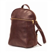 Aston Leather Small Backpack; Black