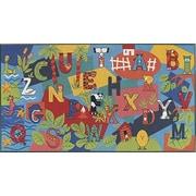Custom Printed Rugs Children's Play Alpha Kids Rug; 36'' x 78''