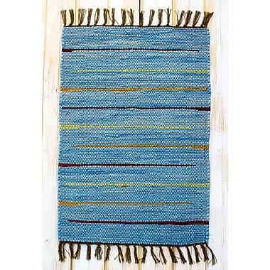 CLM Canyon Blue Stripe Area Rug; 4' x 6'