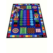Kids World Game Time Area Rug; 5' x 8'