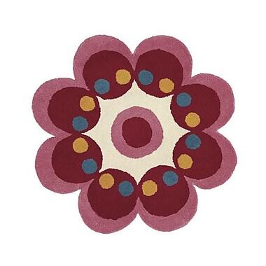 Dynamic Rugs Fantasia Pink Flower Area Rug; Flower 3' x 3'