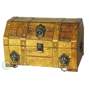 Quickway Imports Pirate Treasure Chest with Lion Rings