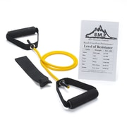 Black Mountain Products Single Resistance Band with Door Anchor and Starter Guide; 2-4 lbs (Yellow)