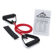 Black Mountain Products Single Resistance Band with Door Anchor and Starter Guide; 25-30 lbs (Red)