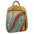 Anuschka Sling-Over Dancing Peacock Travel Backpack