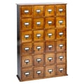 Leslie Dame Library Style 24 Drawer Multimedia Cabinet; Walnut