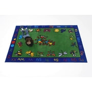 Kids World Critters Kids Rug; Oval 5' x 8'