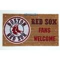 Team Sports America MLB Lighted Coir Mat; Boston Red Sox