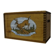 Evans Sports Wooden Accessory Box w/ ''Wildlife Series'' Whitetail Deer Print
