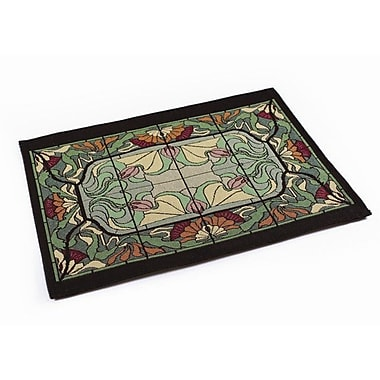 Rennie & Rose Design Group Arts and Crafts Thistle and Rose Bud Placemat (Set of 4)