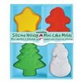 Sassafras Silicone Holiday Mini Cake Molds