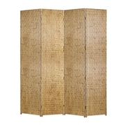 Screen Gems 87'' x 84'' Gilded Screen 4 Panel Room Divider