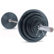 Body Solid 400 lbs Cast Olympic Set with Chrome Bar