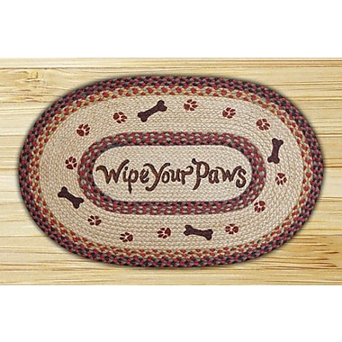 EarthRugs Wipe Your Paws Printed Area Rug; Oval 1'8'' x 2'6''