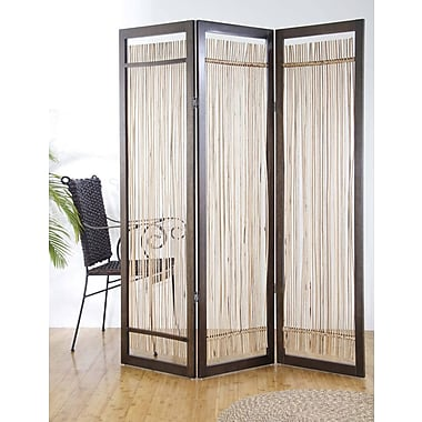 Screen Gems 72'' x 72'' Lanai 3 Panel Room Divider