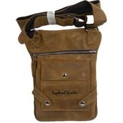 Vagabond Traveler Pouch Slim Sling Shoulder Bag; Dark Brown