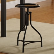 Carolina Cottage Logan 19.5'' Adjustable Bar Stool; Black