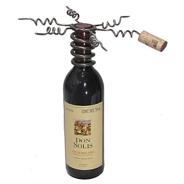 Metrotex Designs Industrial Evolution Six Cork Display Bottle Topper; Natural Lacquered Steel