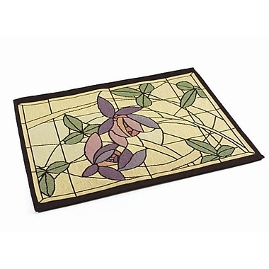Rennie & Rose Design Group Arts and Crafts Flowers and Vines Placemat (Set of 4)