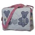 Patch Magic Blue Teddy Bear Shoulder Bag