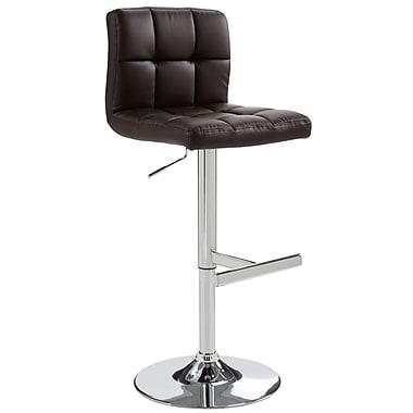 Sunpan Modern Rockwell Adjustable Height Bar Stool ; Brown
