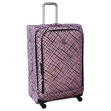 Jenni Chan Brush Strokes 360 Quattro 28'' Upright Spinner Suitcase; Red
