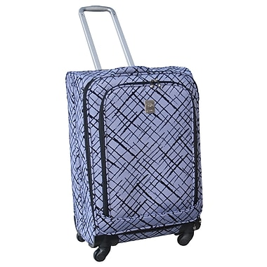 Jenni Chan Brush Strokes 360 Quattro 25'' Upright Spinner Suitcase; Blue