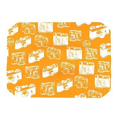 KESS InHouse Camera Pattern Placemat; Orange