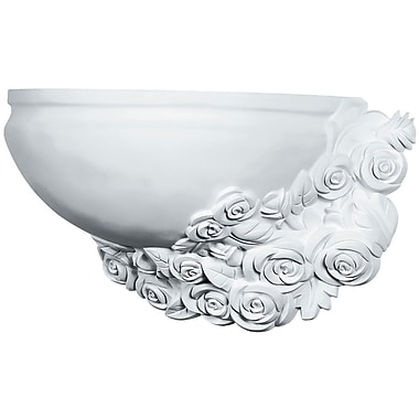 Ekena Millwork Rose 10 1/4''H x 17 3/4''W x 8 1/4''D Wall Sconce