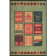 American Home Rug Co. Bright Lime Sizzle Area Rug; 3'6'' x 5'6''
