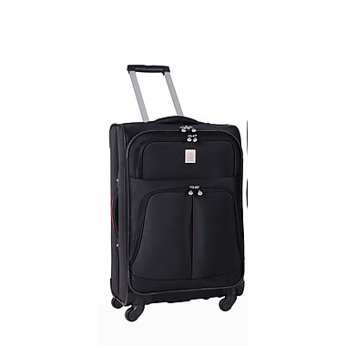 Jenni Chan Shanghai 25'' Upright Spinner Suitcase; Black